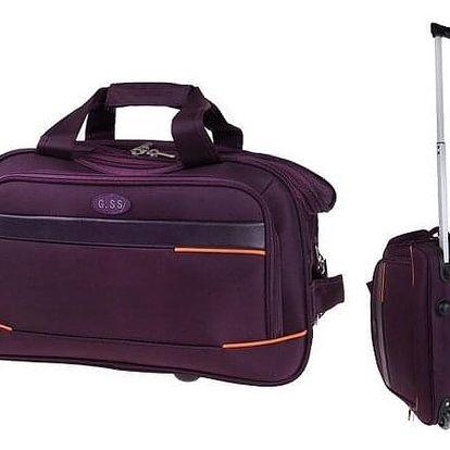 Taška s kolečky G.SS Purple