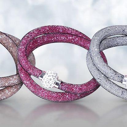 Elegantní dutinkové náramky se třpytivými krystaly