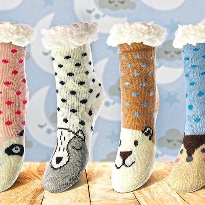Dětské hřejivé ponožky na spaní z ovčí vlny