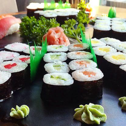 Sushi sety s 10–24 ks: chobotnice, losos, sépie