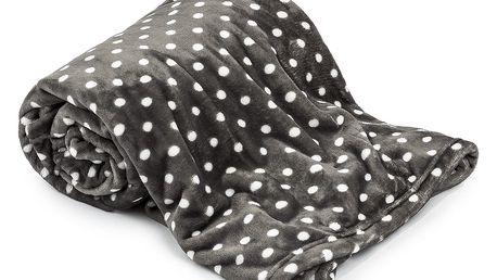 4Home deka Soft Dreams Puntík šedá, 150 x 200 cm