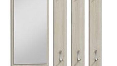 Věšák + zrcadlo PARIS dub sonoma
