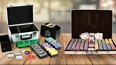 Pokerové karty, míchačka, stojany i kompletní sety