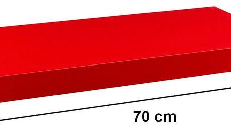 STILISTA VOLATO 31053 Nástěnná police - matná červená 70 cm