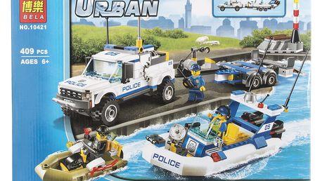 BELA Urban city Stavebnice Policejní hlídka - 409 ks