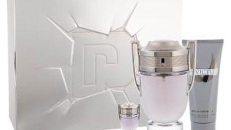 Paco Rabanne Invictus dárková kazeta pro muže toaletní voda 100 ml + sprchový gel 100 ml + toaletní voda 5 ml