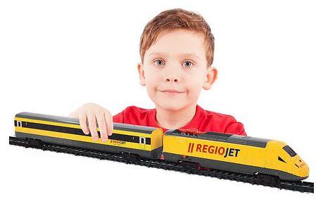 Žlutý vlak RegioJet se zvukem a světlem