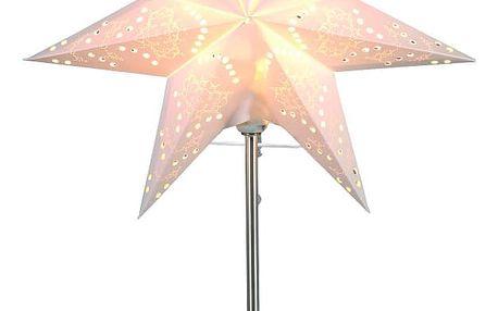 STAR TRADING Lampa Paper Star, šedá barva, bílá barva, kov, papír