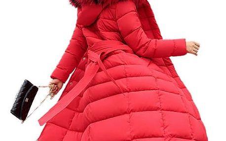 Dlouhý prošívaný kabát