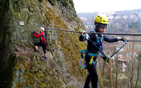 Zážitkové via ferrata lezení s trenérem: Slaný