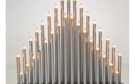 Elegantní světelný svícen Bougies, stříbrná