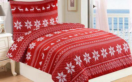 JAHU WINTER RED Mikroplyšové ložní prádlo
