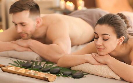 Wellnes balíček pro 2: masáž, sauna, vana i sekt