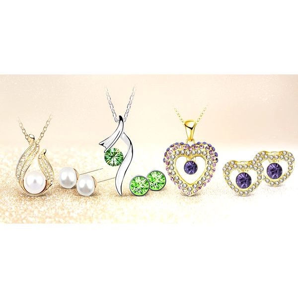 Elegantní náhrdelníky, náramky a náušnice