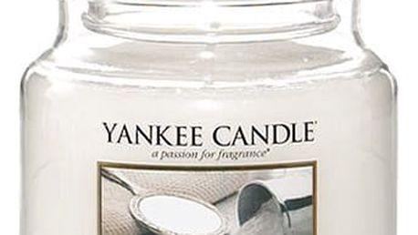 Yankee Candle Svíčka Yankee Candle 411gr - Baby Powder, bílá barva, sklo, vosk