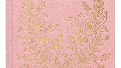 Rifle Paper Co. Diář s textilní pevnou vazbou 2019 Rose, růžová barva, papír, textil