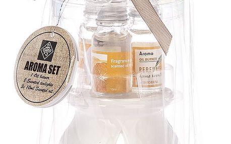 Sada svíček a aromalampy Sentir Tangerine, 12 ks