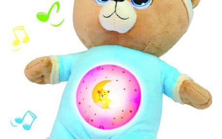 TEDDIES Medvídek Usínáček modrý plyš 32 cm na se světlem a zvukem