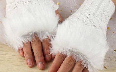 Bezprsté rukavice s kožíškem