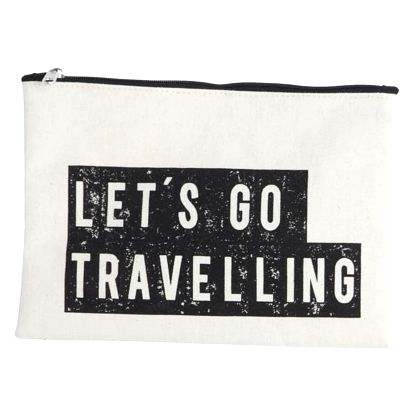 House Doctor Kosmetická taštička Travelling, béžová barva, černá barva, textil