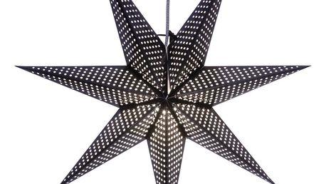 STAR TRADING Závěsná lampa Black Star, černá barva, papír