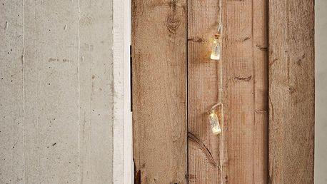 CÔTÉ TABLE Světelný řetěz - Arbre de Noël - stříbrný, stříbrná barva, čirá barva, sklo, plast, korek