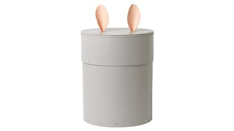 ferm LIVING Úložný box Rabbit Grey 46cm, šedá barva, papír, kůže