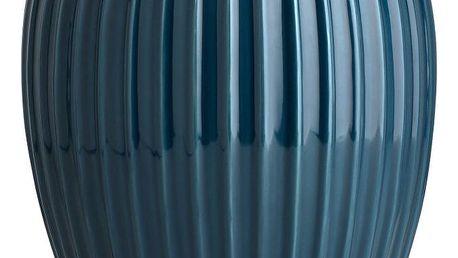 KÄHLER Keramická váza Hammershøi Petroleum 25 cm, modrá barva, zelená barva, keramika