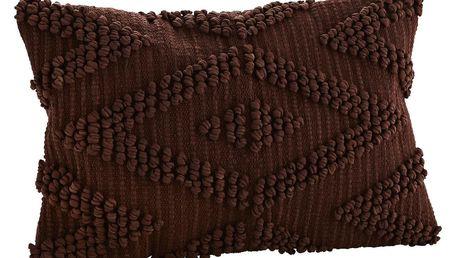 MADAM STOLTZ Povlak na polštář Paprika 40x60, hnědá barva, textil