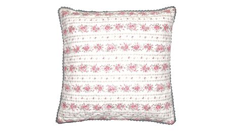 GREEN GATE Povlak na polštář Flora Vintage 50x50, růžová barva, šedá barva, bílá barva, textil