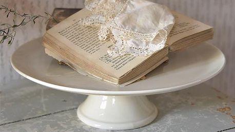 Jeanne d'Arc Living Porcelánový dortový stojan Signature, krémová barva, porcelán