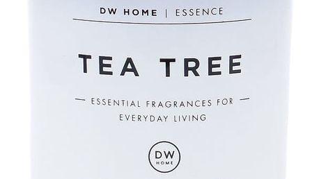 dw HOME Vonná svíčka ve skle Tea Tree 255g, bílá barva, sklo, vosk