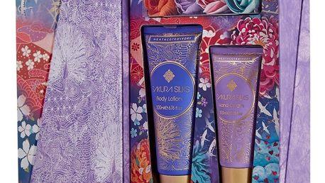 HEATHCOTE & IVORY Dárková sada kosmetiky Sakura Silks, růžová barva, fialová barva, modrá barva, multi barva, zlatá barva, plast, papír