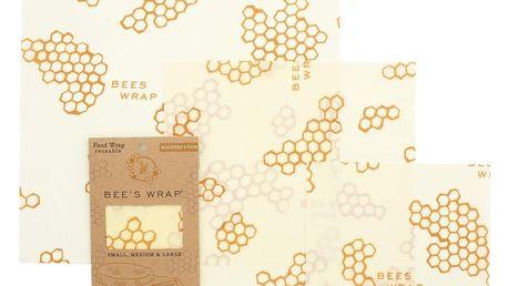 Bee's Wrap Ekologický potravinový ubrousek-3ks, žlutá barva, textil