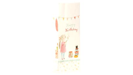 Maileg Papírový sáček Birthday - 12 ks, bílá barva, multi barva, papír