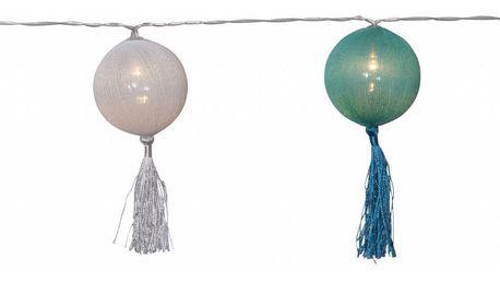 STAR TRADING Dekorativní světelný řetěz Jolly Tassel Multi, multi barva, plast, textil