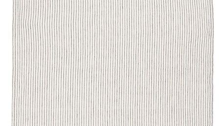 IB LAURSEN Bavlněná utěrka mini stripes, černá barva, bílá barva, textil