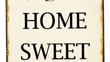 IB LAURSEN Plechová cedule Sweet Home 2, béžová barva, kov