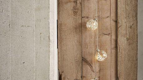 CÔTÉ TABLE Světelný řetěz - Boules de Noël, bílá barva, stříbrná barva, čirá barva
