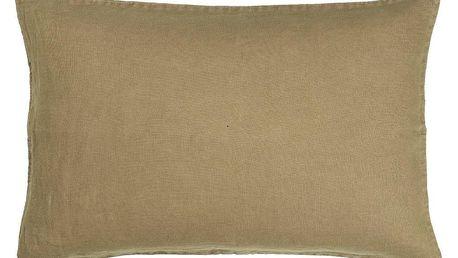 IB LAURSEN Lněný povlak na polštář Nature 50x70 cm, béžová barva, přírodní barva, textil