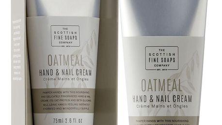 SCOTTISH FINE SOAPS Krém na ruce a nehty Oatmeal 75ml, béžová barva, krémová barva, plast, papír