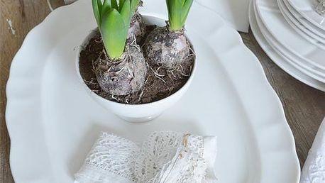 Jeanne d'Arc Living Porcelánový servírovací talíř Signature White, krémová barva, porcelán
