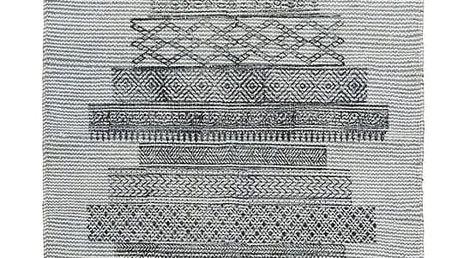 House Doctor Bavlněný kobereček Karma Grey 60x90 cm, šedá barva, textil