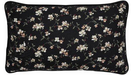 GREEN GATE Povlak na polštář Jolie Black 30x50cm, černá barva, textil