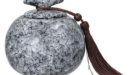 Bloomingville Keramická dózička Grey/Black, šedá barva, černá barva, keramika