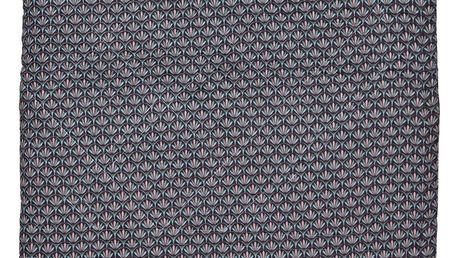 GREEN GATE Prošívaný přehoz Victoria dark grey 140x220 cm, růžová barva, šedá barva, textil