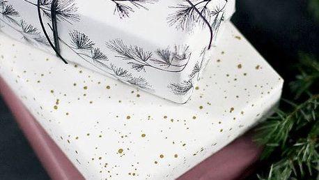 TAFELGUT Balicí papír Black Branches - 2 listy, černá barva, bílá barva, papír