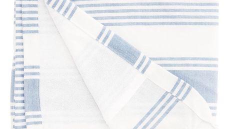 MADAM STOLTZ Osuška Stripe Blue 90x180 cm, modrá barva, textil