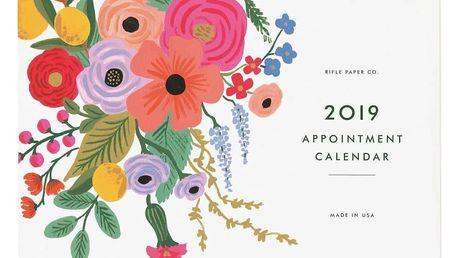 Rifle Paper Co. Plánovací kalendář 2019 Garden Party, multi barva, papír