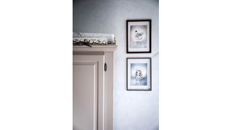 MRS. MIGHETTO Plakáty BIANCA & SWAN BOAT - set 2 ks, šedá barva, papír
